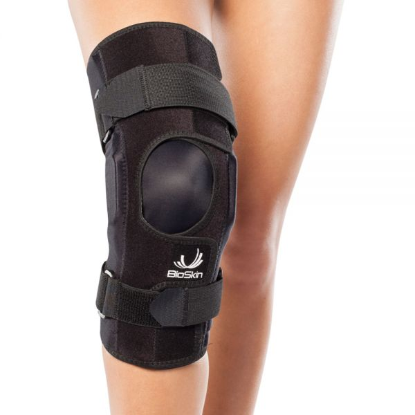 Premium hinged knee brace wraparound