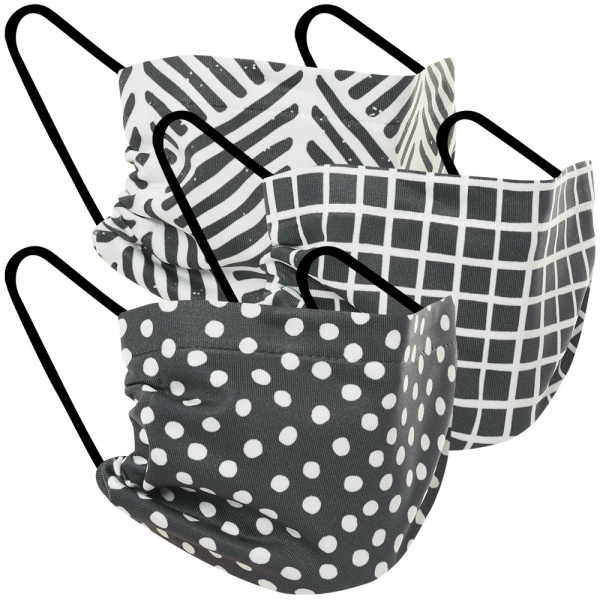 Double Layer Mask - Black & White 3 Pack