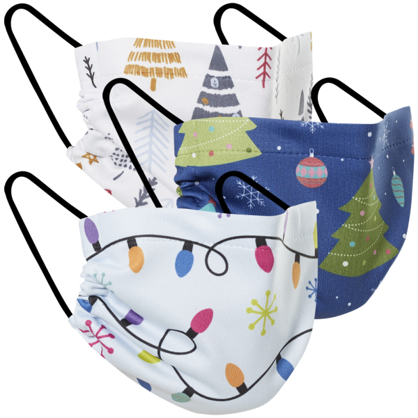 Christmas Lights - Three Pack Fabric Face Mask