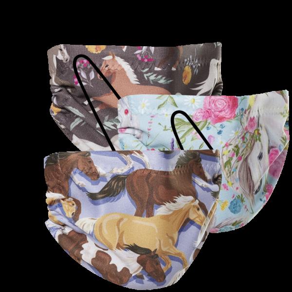 Kids Mask - Horses 3 Pack