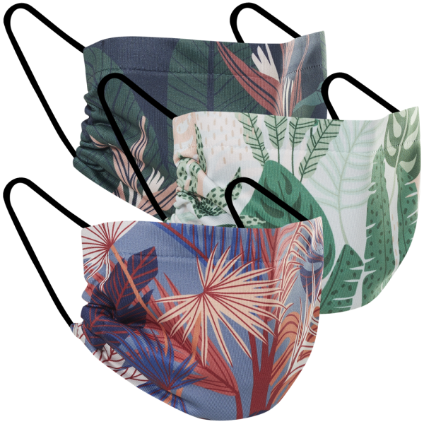 Plant Lovers - Three Pack Fabric Face Mask