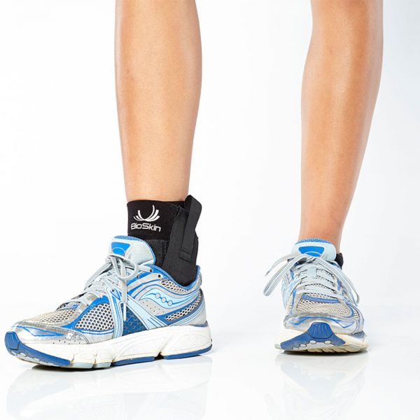 Ankle brace fits in running shoes