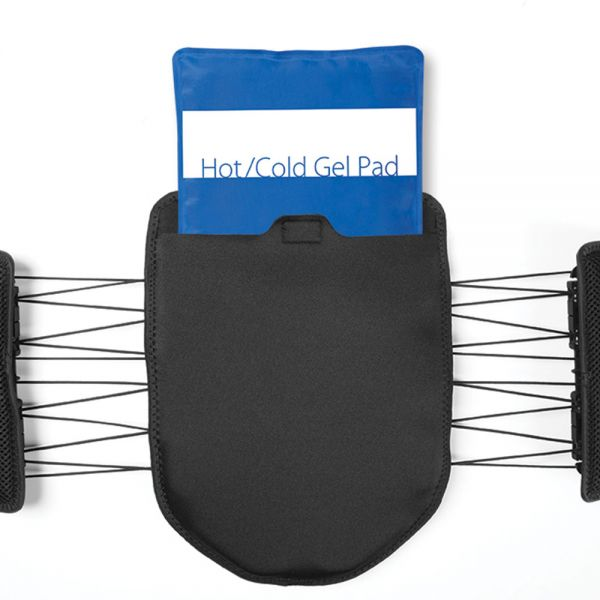 Back brace with hot and cold pack