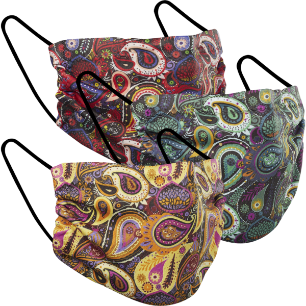 Paisley Print - Three Pack Fabric Face Mask