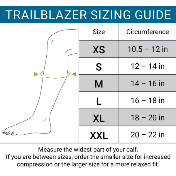 Trailblazer size chart