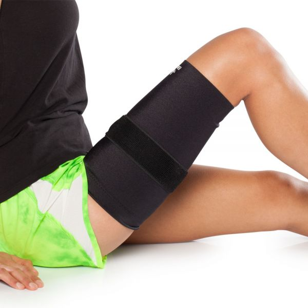 Thigh compression sleeve for hamstring pain