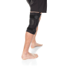 Compression knee brace with hinge